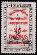 BURGOS, II° Año Trionfal VIVA CRISTO REY, Sobracarga. 19 Julio 1936 - Viñetas De La Guerra Civil