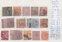 TIMBRE DE Australie > 1850-1906 New South Wales > Oblitérés   NR VOIR SUR PAPIER AVEC TIMBRES  COTE 84.70€ - 1850-1906 New South Wales