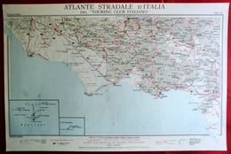 Foglio 32, Frosinone - Gaeta, ATLANTE STRADALE D'ITALIA Touring Club Italiano 1923-26 (Dir. L. V. Bertarelli) - Carte Stradali