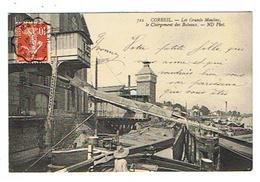 CPA 91 CORBEIL Les Grands Moulins Le Chargement Des Bateaux - Corbeil Essonnes