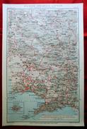 Foglio 33, Napoli - Benevento, ATLANTE STRADALE D'ITALIA Touring Club Italiano 1923-26 (Dir. L. V. Bertarelli) - Carte Stradali