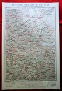Foglio 34, Foggia - Potenza, ATLANTE STRADALE D'ITALIA Touring Club Italiano 1923-26 (Dir. L. V. Bertarelli) - Carte Stradali