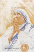 1998 Congo Saint Mother Teresa Religion Miniature Sheet Of 6 + Souvenir Sheet