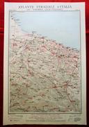 Foglio 35, Barletta - Matera, ATLANTE STRADALE D'ITALIA Touring Club Italiano 1923-26 (Dir. L. V. Bertarelli) - Carte Stradali