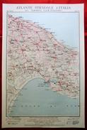 Foglio 36, Bari - Taranto, ATLANTE STRADALE D'ITALIA Touring Club Italiano 1923-26 (Dir. L. V. Bertarelli) - Carte Stradali