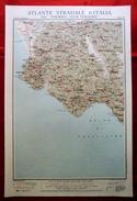 Foglio 38, Cilento - Lagonegro, ATLANTE STRADALE D'ITALIA Touring Club Italiano 1923-26 (Dir. L. V. Bertarelli) - Carte Stradali