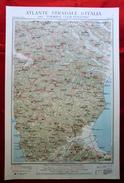 Foglio 39, Castrovillari - Sibari, ATLANTE STRADALE D'ITALIA Touring Club Italiano 1923-26 (Dir. L. V. Bertarelli) - Carte Stradali