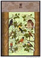 LIECHTENSTEIN  2011    WWF - ENDANGERED  BIRDS -   SHEET    MNH - Birds