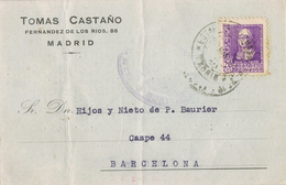 23704. Tarjeta Privada Comercial MADRID 1939. CENSURA, Guerra Civil - 1931-50 Lettres