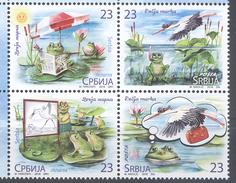 SERBIA, 2016, MNH, CHILDREN'S  DAY, FROGS, BIRDS, 4v