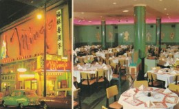 Vancouver BC Canada, Ming's Chinese Restaurant Interior & Exterior Views Auto, C1950s/60s Vintage Postcard - Vancouver