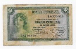 5 PESETAS  1935 - [ 2] 1931-1936: Republik