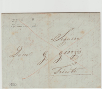 Turkey Ottoman Emp.  Austrian Post Smirne 1850 EL Canc. Lloyd Smirne To Constantinople - Turkey
