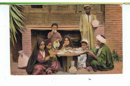CPA-EGYPTE-ANIMEE-UN REPAS DE FAMILLE- - Ägypten