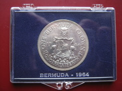 Bermuda 1964 Silver Crown Very Close To Or UNC Still Lustrous Cased - Bermuda