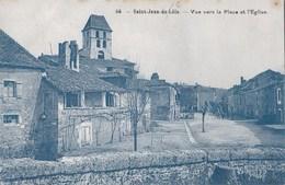 Carte Postale Saint Jean De Côle (24) - Vue Vers La Place Et L'église     Ed Lacotte - France