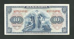 10 Deutsche Mark 1948  XF+ - 50 Deutsche Mark