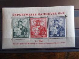 ALLEMAGNE  Bloc Feuillet  Foire De Hanovre 1949