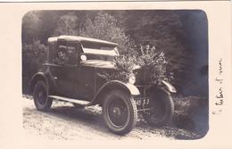 CPA - PHOTO Carte-Photo Automobile Voiture Anglaise ? (beau Plan) Véhicule (2 Scans) - Cartoline