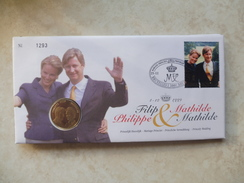 Enveloppe Numismatique Belgique Belgie  Philip Et Mathilde - Belgique
