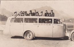 CPA - PHOTO Carte-Photo (65) LOURDES Autobus Autocar Transport En Commun Véhicule Locomotion - Autobus & Pullman