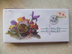 Enveloppe Numismatique Belgique Belgie Floralies Gantoises 2000 - Belgique