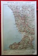 Foglio 40, Cosenza - Catanzaro, ATLANTE STRADALE D'ITALIA Touring Club Italiano 1923-26 (Dir. L. V. Bertarelli) - Carte Stradali