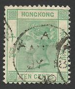 Hong Kong, 10 C. 1882, Sc # 43a, M # 38b, Used. - Hong Kong (...-1997)