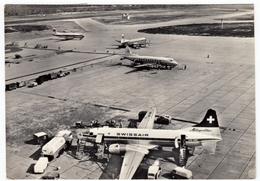 AEREI - AVIAZIONE - AEROPORTO INTERCONTINENTALE MILANO - MALPENSA - VISIONE DALLA NUOVA TORRE DEI RACCORDI...- 1963 - Aerodromes
