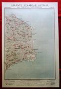 Foglio 41, La Sila - Cotrone (Crotone), ATLANTE STRADALE D'ITALIA Touring Club Italiano 1923-26 (Dir. L. V. Bertarelli) - Carte Stradali