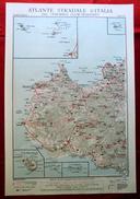 Foglio 42, Trapani - Sciacca, ATLANTE STRADALE D'ITALIA Touring Club Italiano 1923-26 (Dir. L. V. Bertarelli) - Carte Stradali
