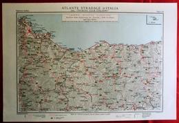 Foglio 43, Palermo - Cefalù, ATLANTE STRADALE D'ITALIA Touring Club Italiano 1923-26 (Dir. L. V. Bertarelli) - Carte Stradali