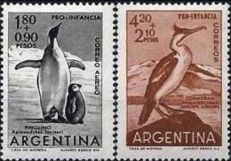 ARGENTINE, Oiseaux, Manchots, Cormoran. Yvert N° 636+ PA 82** MNH - Penguins