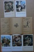 13172 - 3 Séries F . POULBOT    Différentes Complétes Avec Les Pochettes -  Contre Les Taudis  15 Cartes - Poulbot, F.