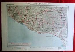 Foglio 46, Caltanissetta - Girgenti, ATLANTE STRADALE D'ITALIA Touring Club Italiano 1923-26 (Dir. L. V. Bertarelli) - Carte Stradali