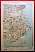 Foglio 47, Catania - Siracusa, ATLANTE STRADALE D'ITALIA Touring Club Italiano 1923-26 (Dir. L. V. Bertarelli) - Carte Stradali