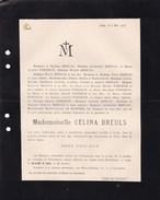 LIEGE Célina BREULS 1833-1903 Doodsbrief Famille FORGEUR - Décès