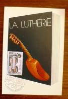 FRANCE Musique, Instruments De Musique, Yvert  N°2072 Carte Maximum, FDC, Enveloppe 1er Jour - Musik