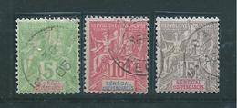Colonie Timbres Du Sénégal De 1900/01  N°21 A 23  Oblitérés - Senegal (1887-1944)