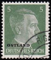 RUSSIA German Occupation - Scott #N24 Hitler 'Overprinted' / Used Stamp - 1941-43 Deutsche Besatzung