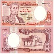 Colombia 100 Pesos 1991 Pick 426.e UNC - Colombia