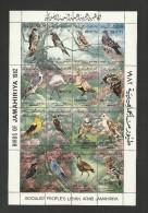 1982-Libya-Libye- Birds, Flowers  - Oiseaux- Fleurs - Minisheet  MNH** - Libyen