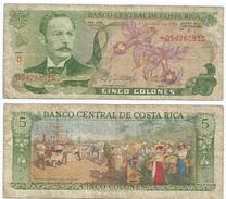 Costa Rica 5 Colones 1986 Pick 236.d Ref 134 - Costa Rica