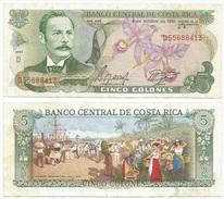 Costa Rica 5 Colones 4-10-1989 Pk 236 D.19 Sin Tiras De Seguridad Ref 592-2 - Costa Rica