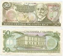 Costa Rica 50 Colones 2-6-1993 Pick 257.a Ref 139 - Costa Rica