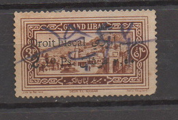 Grand Liban 1925 Overprint Droit Fiscal 2.50p On 3p Used Stamp Revenue Lebanon , Liban Libano