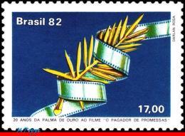 Ref. BR-1804 BRAZIL 1982 FILM & MOVIE, GOLDEN PALM, THE PROMISE, KEEPER FILM, MI# 1904, MNH 1V Sc# 1804 - Cinema