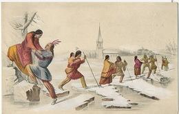 Indianer Der Station Cumberland Auf Dem Weg Zur Kirche - Indiens De L'Amerique Du Nord