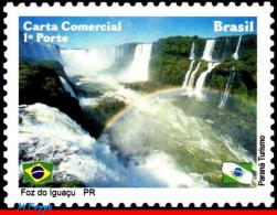 Ref. BR-3133-DP BRAZIL 2010 CITIES, FOZ DO IGUACU, WATERFALLS, , DEPERSONALIZED MNH 1V Sc# 3133
