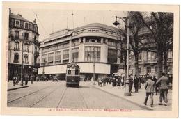 54 NANCY - Place Saint Jean Et Vue Des Magasins Reunis - Tramway Animation - Cpa Meurthe Et Moselle - Nancy